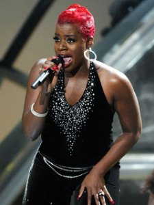 Fantasia does her best Grace Jones