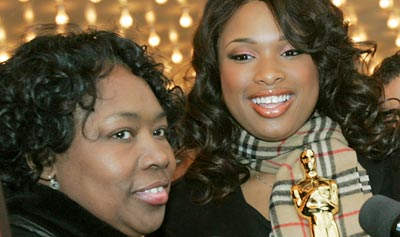 "Jennifer Hudson and her mother, Darnell Donnerson, shortly after Hudson winning the Academy Award for her performance as Effie in ""Dreamgirls""."