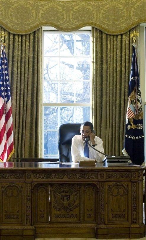 Barack Obama at work