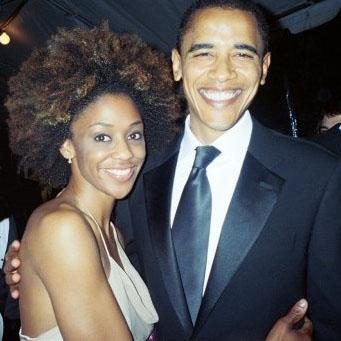 Nadia Turner and President Barack Obama