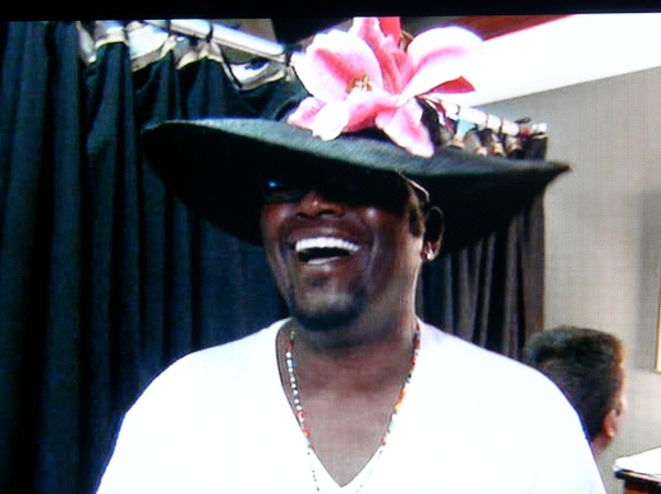 Church hats go well on Randy Jackson
