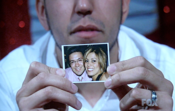 Danny Gokey and Sophia Gokey...why oh why did this guy hold this up?