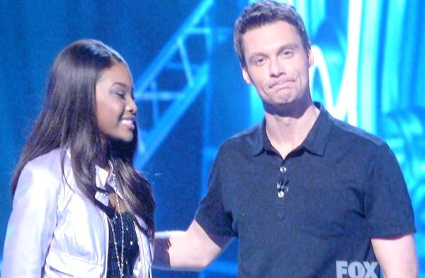 Jasmine Murray and Ryan Seacrest