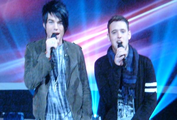 Adam Lambert and Matt Giraud
