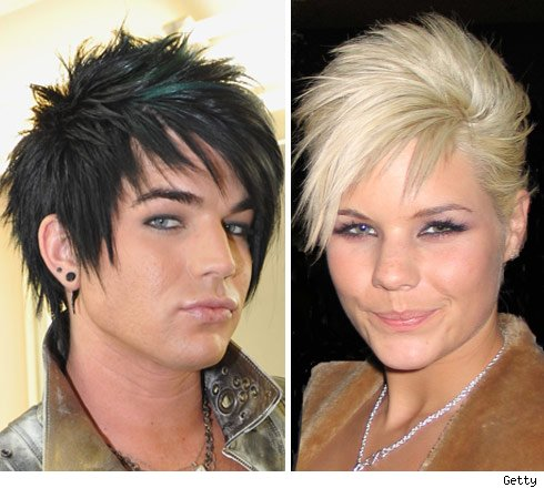 Adam Lambert looks a lot like Kimberly Caldwell