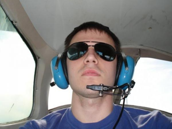 Kris Allen in helicopter