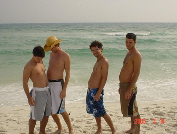 Kris Allen shirtless! On beach with other shirtless dudes!
