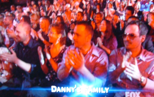 Danny Gokey's family. Now with cool aviators.