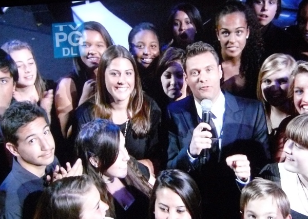 "Ryan Seacrest in the Idol ""Mosh Pit"""