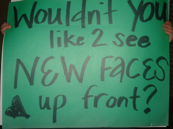 David Cook fans even make signs to try and help the stalker problem