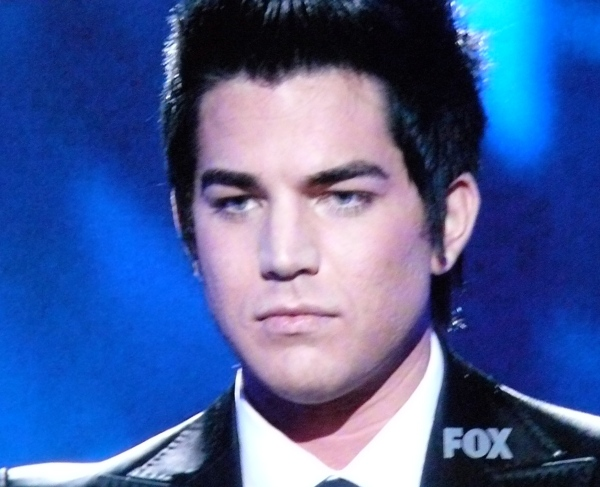 Adam Lambert looks like Eddie Munster tonight