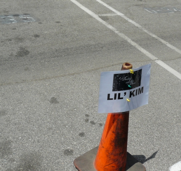 Lil' Kim's parking space for Dancing With The Stars