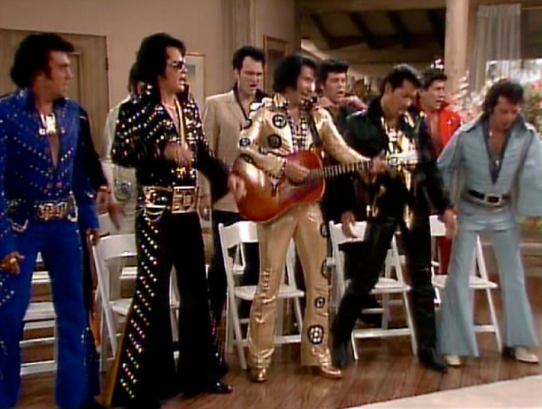 Quentin Tarantino as an Elvis Impersonator on The Golden Girls