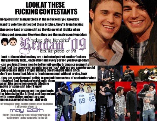Kradam Meme (Kris Allen and Adam Lambert)
