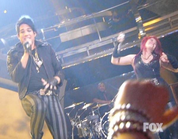 """Adam Lambert and Allison Iraheta sing """"Slow Ride"""""""