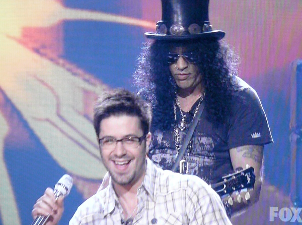 Phallic symbols, Danny Gokey and Slash