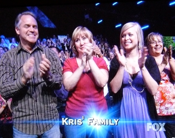 Kris Allen's wife and his parents