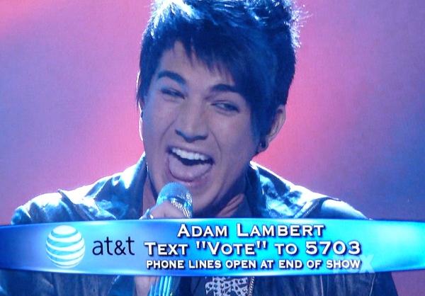 Adam Lambert sings Cryin'