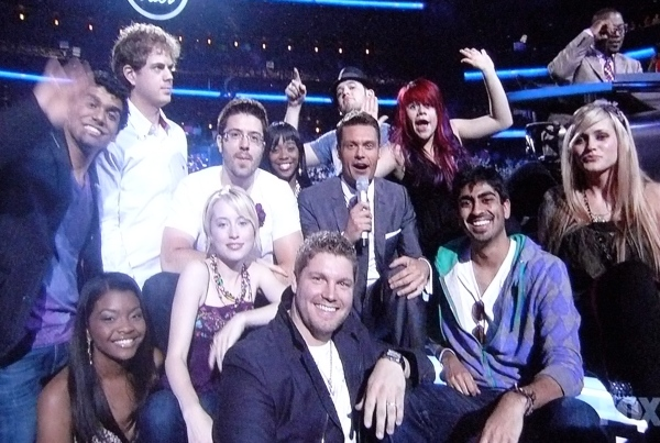 Fallen Idol Contestants in the audience
