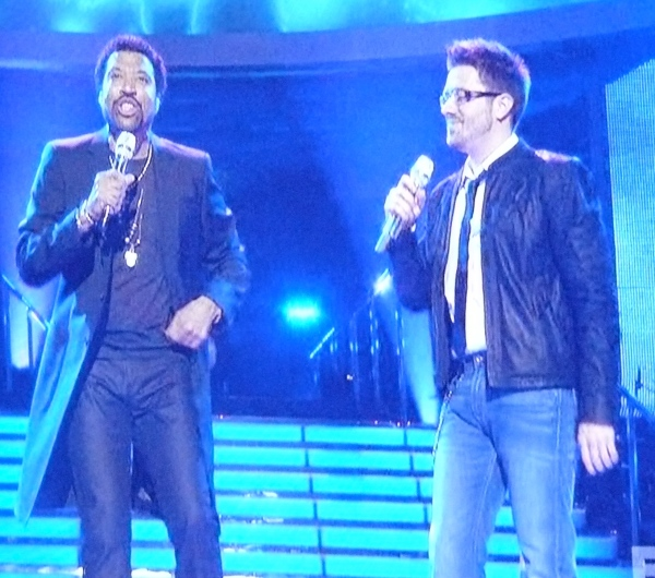 Lionel Richie and Danny Gokey