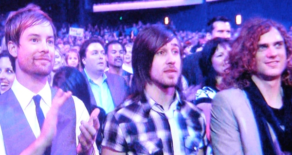 David Cook and his band wonder what the hell it was they just watched