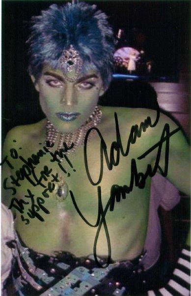 Adam Lambert is green!