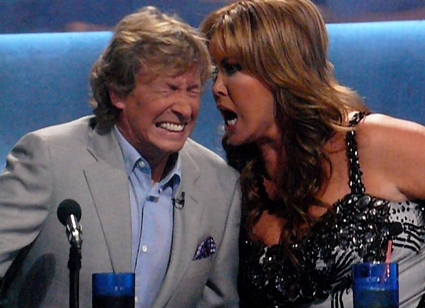 SYTYCD Crazy Mary Murphy screams in Nigel Lythgoe's ear