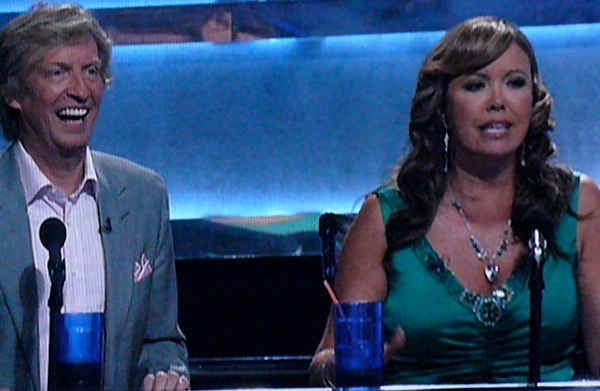 SYTYCD Nigel Lythgoe is laughing because Crazy Mary's drink is empty