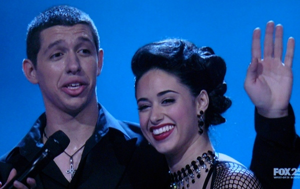 Philip & Jeanine after their Shane Sparks Hip Hop Routine -- SYTYCD