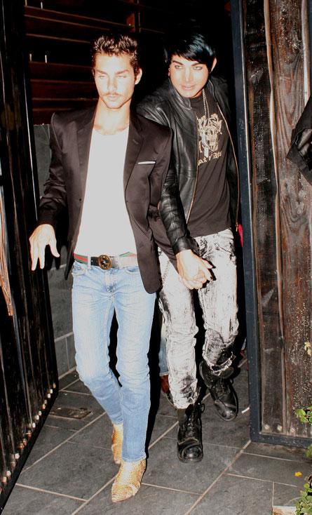 Adam Lambert and boyfriend