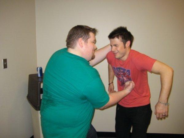 I love Kris Allen's big guy friend