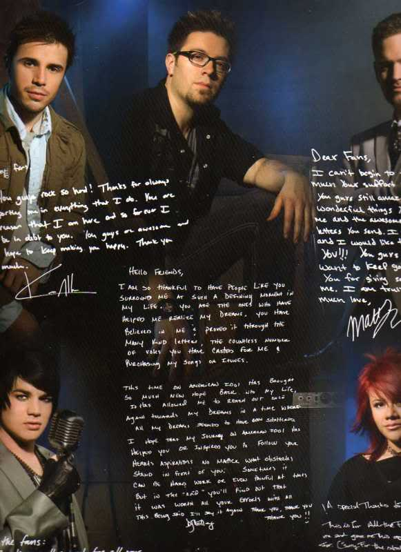 American Idol Tour Program (Adam Lambert, Kris Allen, Danny Gokey)