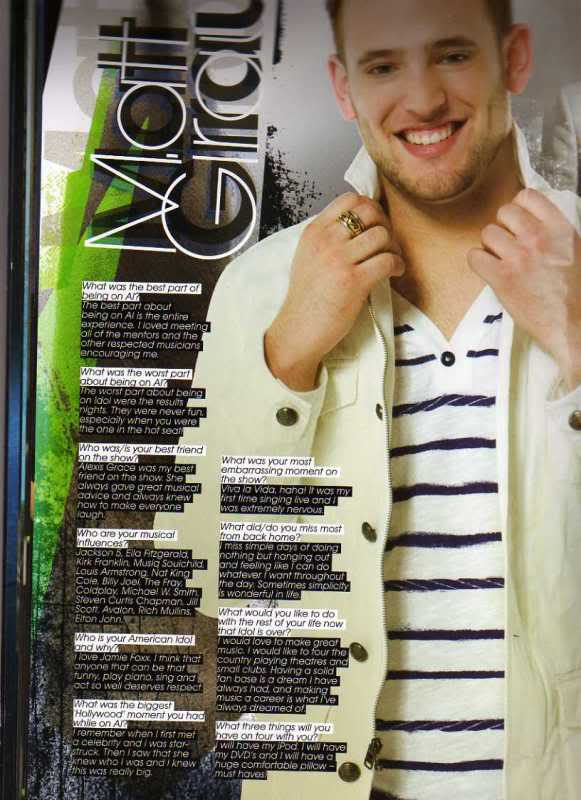 Matt Giraud -- American Idol Tour Program Interview