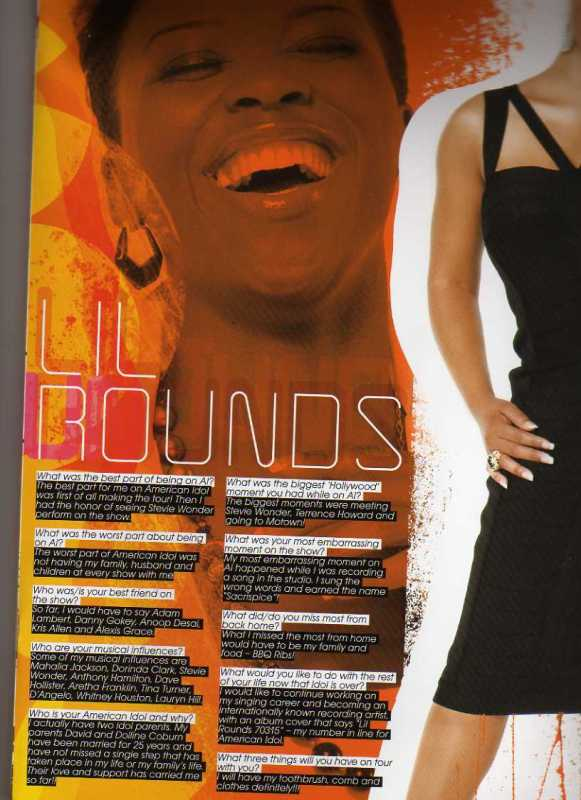 Lil Rounds -- American Idol Tour Program Interview