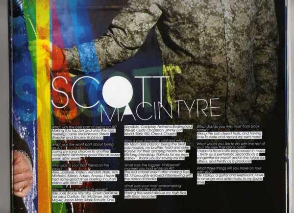 Scott MacIntre -- American Idol Tour Interview (#2)