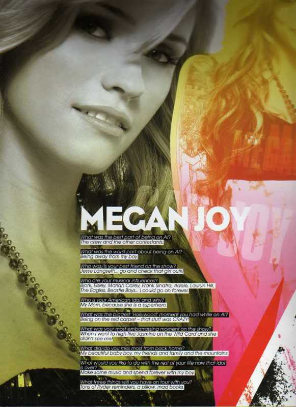 Megan Joy -- American Idol Tour Program Interview