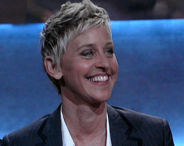 Ellen DeGeneres looks like she could be Adam Shankmann's sister