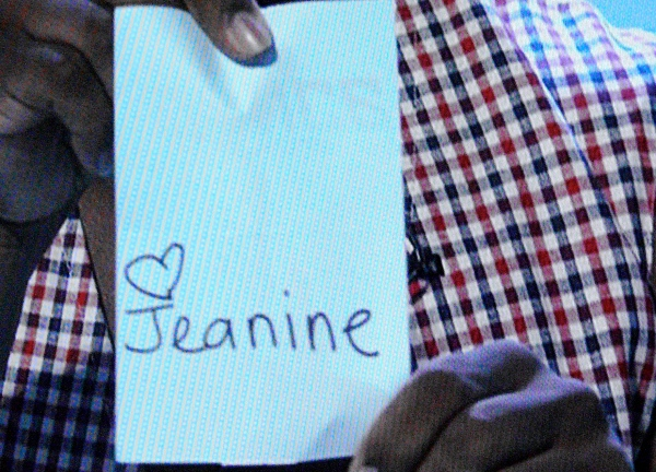 Does Jeanine write a heart next to her name all the time?