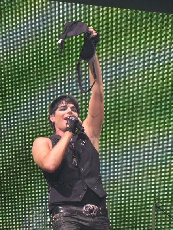 Adam Lambert and yet another frauen bra