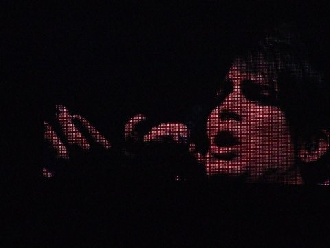 Adam Lambert on big screen -- American Idol Tour 2009 in Atlanta (07/31/2009)