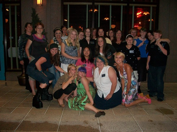 Adam Lambert's Glamberts in Charlotte...with beautiful blue streaks