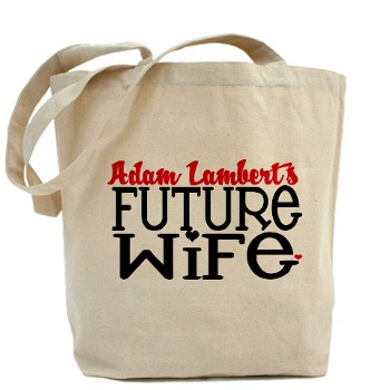 Adam Lambert Future Wife tote bag