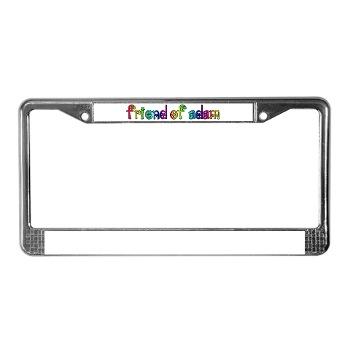 Friend of Adam license plate frame