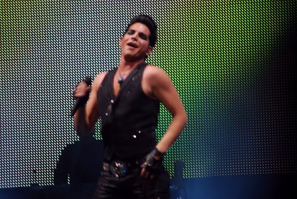 American Idol Tour Memphis: Adam Lambert working it...