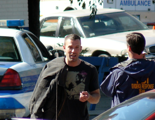 Ben Affleck was behind my apartment directing his movie