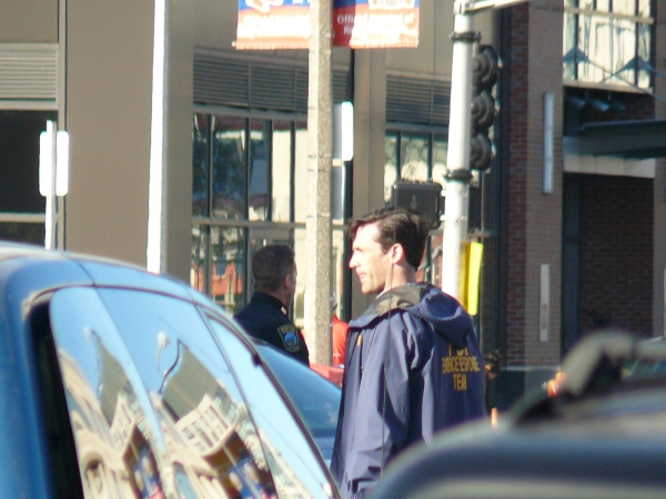 "Jon Hamm filming ""The Town"" on Boylston St."