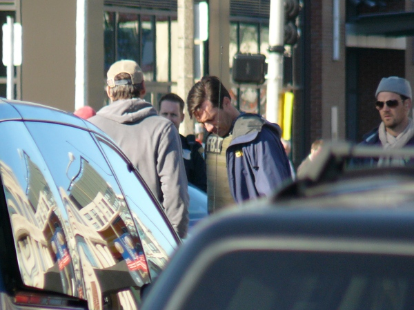 "Jon Hamm filming ""The Town"" on Boylston St. (9/26/09)"