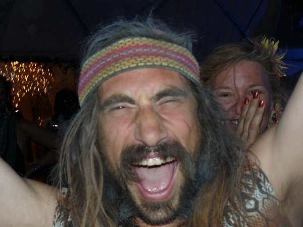 A happy hippie at Burning Man