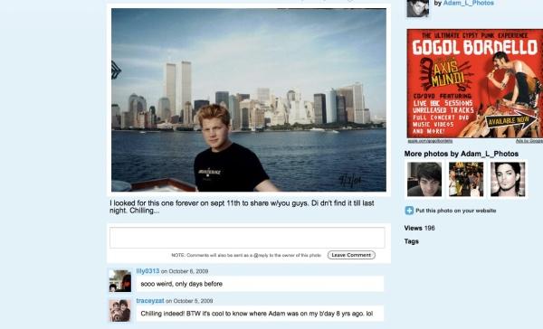 Adam Lambert and the World Trade Center