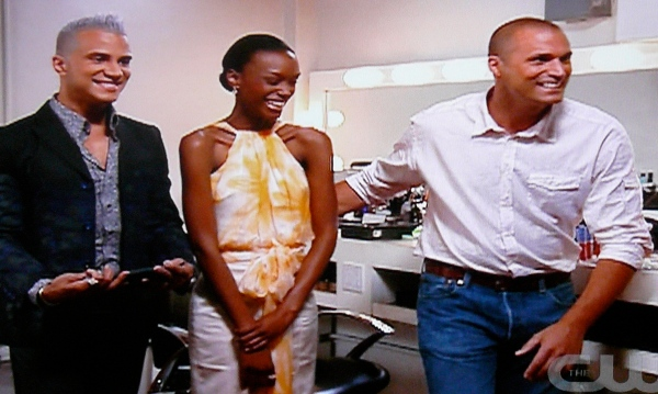 ANTM Jay Manuel, Teyona and Nigel Barker at the Cover Girl shoot